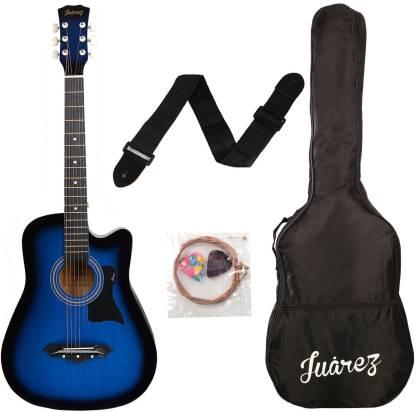 """Juarez JRZ38 / BLS ACOUSTIC 38"""" Acoustic Guitar Linden Wood Ebony Right Hand Orientation"""