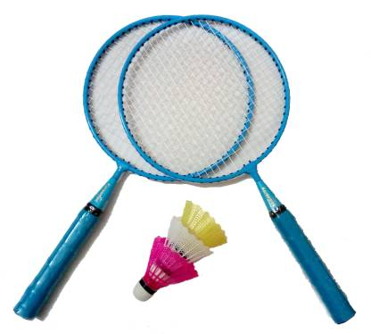Konex Kids Badminton Kit 2 Racquets & 3 Shuttle Cocks - Blue Badminton Kit
