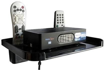 GoodsBazaar Set Top Box with Remote Holder Acrylic Wall Shelf