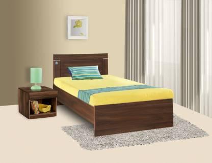 Acacia Dark Finish Treasure Single Bed Engineered Wood Single Bed – Delite Kom