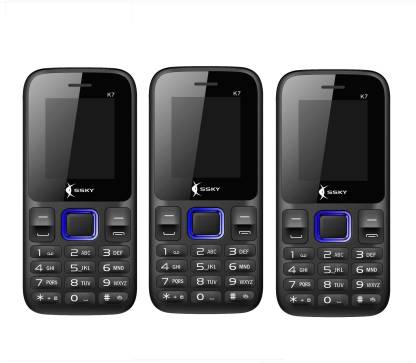 Ssky K7 Combo of Three Mobiles