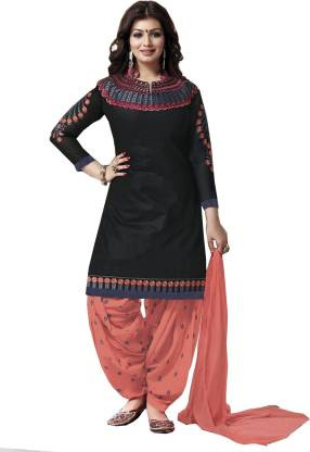 Fashion Ritmo Cotton Embroidered Salwar Suit Material