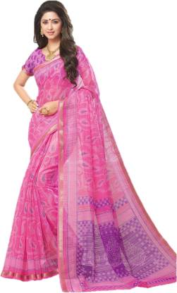 Design Willa Printed, Geometric Print Fashion Silk Cotton Blend Saree