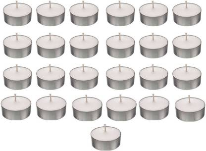 Kala Decorators Smokeless Tea Light Candle(Pack of 25 Pcs ) (Paraffin Wax )for Wedding,Festival,Party Candle
