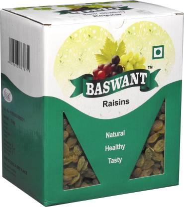 Baswant Seedless Green Raisins | Kishmish | Dry Grapes - 1 kg Raisins