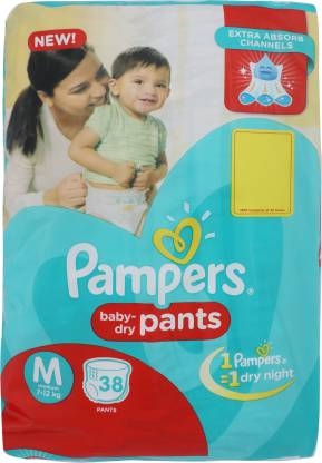 Pampers Baby Dry Pants   M   38 Pieces  Pampers Baby Diapers