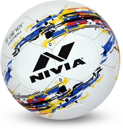 Nivia Trainer Football   Size: 4 Pack of 1, White  Nivia Footballs