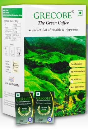 GRECOBE -The Green coffee (100 sachets) Instant Coffee
