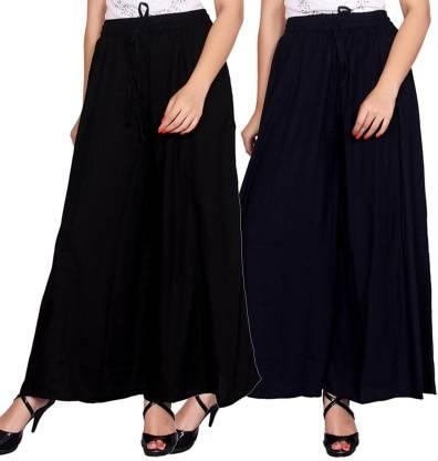 Aawari Regular Fit Women Dark Blue, Black Trousers