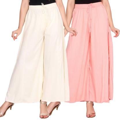 Aawari Regular Fit Women White, Cream Trousers