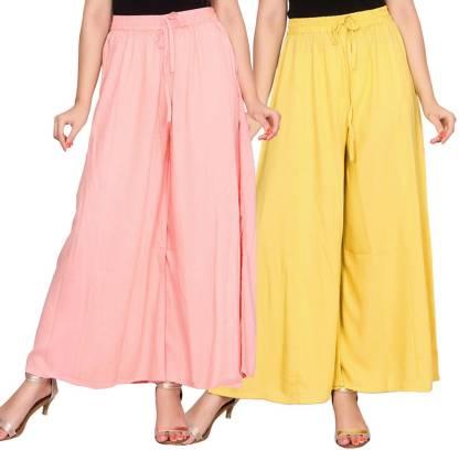 Aawari Regular Fit Women Yellow, Cream Trousers