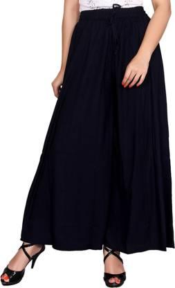 Aawari Regular Fit Women Dark Blue Trousers