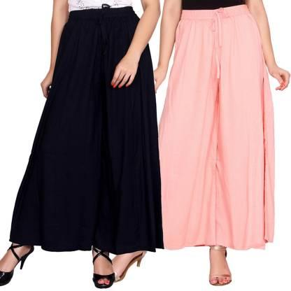 Aawari Regular Fit Women Dark Blue, Cream Trousers