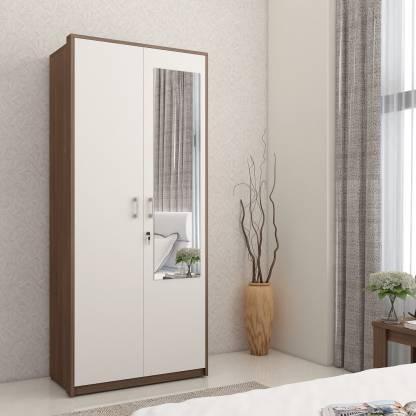 Spacewood Dew Engineered Wood 2 Door Wardrobe