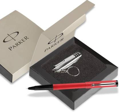 PARKER Beta Std CT Ball pen Red with S.knife Pen Gift Set