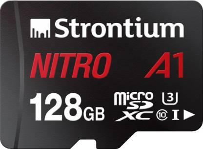 Strontium Nitro A1 128 GB SDXC UHS Class 1 100 Mbps  Memory Card