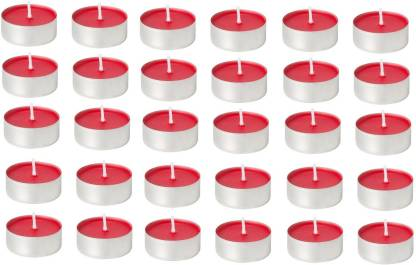 Kala Decorators 30 Pcs Red Strawberry Smokeless Color Tea Light Candle for Party,Home Candle