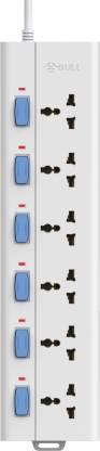 BULL 6 Socket,6 Switch,2 M Wire Extension Board 10 A Three Pin Socket BULL Sockets