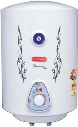 V-Guard 15 L Storage Water Geyser (Steamer Plus MSV, White)