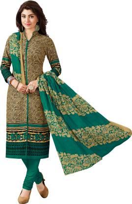 Reya Cotton Blend Graphic Print Salwar Suit Material