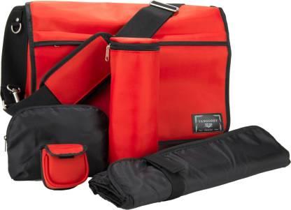 VanGoddy Baby Nappy Diaper Bag, Insulated Bottle Bag, Changing Pad, Multiple Pockets Travel Nappy Bag Messenger Diaper Bag(Black)
