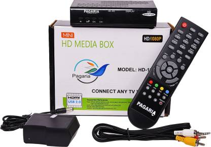 PAGARIA Full HD Portable Media Player with 2 USB Ports, Model: HD-102 Media Streaming Device