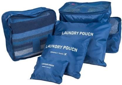 Italish Set of 6 Laundry Pouch Luggage Bag Packing Cubes Travel Storage