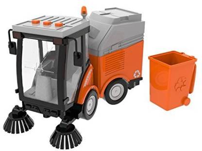 Generic Fun Little Toys Street Sweeper Truck Toy Friction Powered Kids  Cleaning Set for Boys With Lights and Sound 4 Wheels 2 Brushes 1: - Fun  Little Toys Street Sweeper Truck Toy
