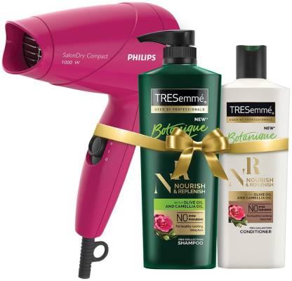 TRESemme Nourish & Replenish Shampoo and Conditioner Plus Philips Hair Dryer