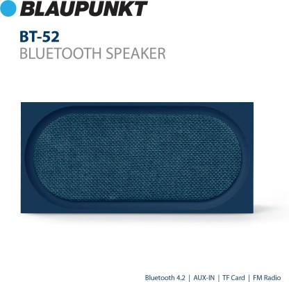 Blaupunkt BT-52 10W Portable Bluetooth Speaker(Blue)