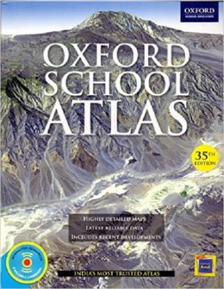 Oxford School ATLAS - Highly Detailed Maps Latest Reliable Data Includes Recent Developments 35 Edition