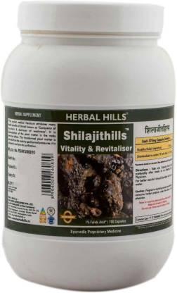 Herbal Hills Shilajithills 700 Capsule, vigor, vitality, strength tonic Premium Quality Shilajit - Ayurvedic solution for vigor and vitality