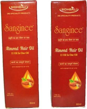 sanginee ALMOND HAIR OIL 80ML Hair Oil