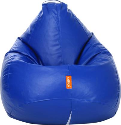 ORKA XL Tear Drop Bean Bag Cover  (Without Beans)