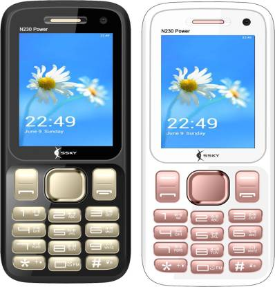 Ssky N230 Power Combo of Two Mobiles