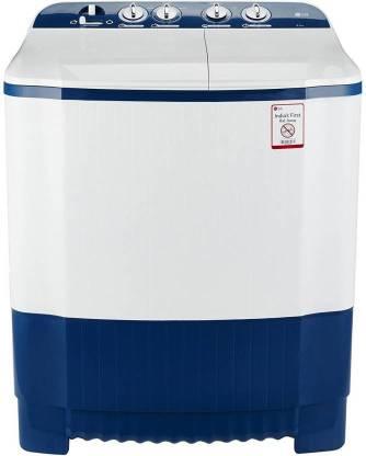 LG 6.5 kg Semi Automatic Top Load White, Blue