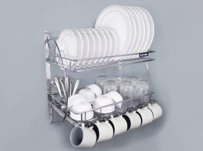 Levon Wall Mount Kitchen Dish Rack Plate Cutlery Stand Kitchen Utensils Rack Modern Kitchen Storage Organiser Size 455 X 255 X 270 Mm Utensil Kitchen Rack Price In India Buy Levon Wall
