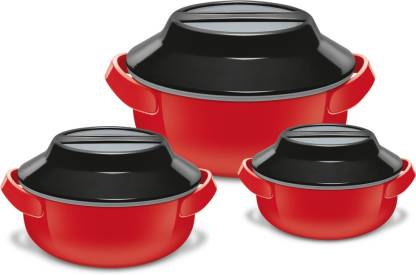 MILTON Microwow Jr Pack of 3 Thermoware Casserole Set
