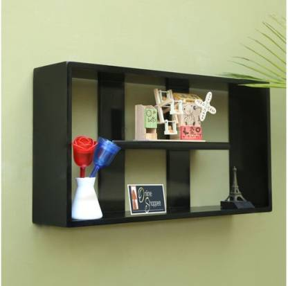 Onlineshoppee multiple compartments Wooden Wall Shelf