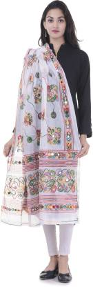 Bohomandala Cotton Blend Embroidered Women Dupatta