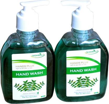 HANDS PLUS NEEM HAND WASH (250ML*2) Hand Wash Pump Dispenser