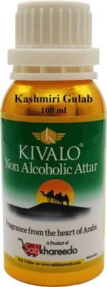 KIVALO Ⓡ Kashmiri Gulab Fragrance Gold Series 100 ml Pure Attar Floral Attar