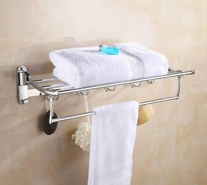 Keepwell Stainless Steel Folding Towel, Towel Hanger Bathroom