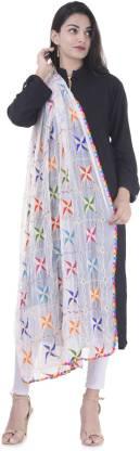 Bohomandala Chiffon Embroidered Women Dupatta