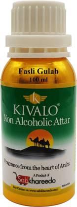KIVALO Ⓡ Fasli Gulab Fragrance Gold Series 100 ml Pure Attar Floral Attar