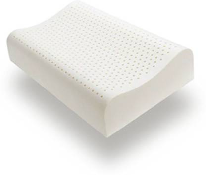 Sleep Spa Rubber/Latex Dream Contour Talalay Latex (60X40,White) Bed/Sleeping Pillow Pack of 1