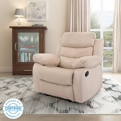 Flipkart Perfect Homes Costello Fabric Manual Recliners Recliner   Finish Color   Beige