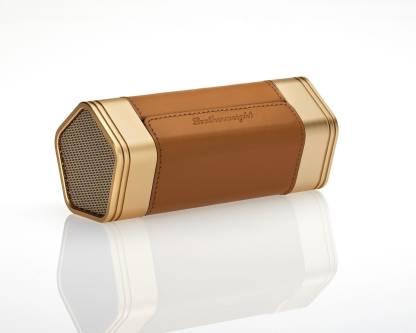 Desire Desire Leatherweight - the retro wireless speakers-Golden Brown Bluetooth Home Theatre