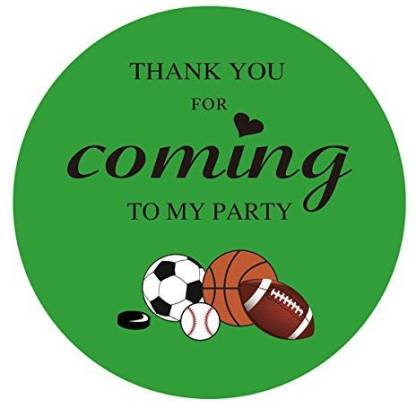 Magjuche Sports Thank You Stickers Kids All Sports Themed Birthday Party Favor Sticker Labels 2 Inch 40 Pack Sports Thank You Stickers Kids All Sports Themed Birthday Party Favor Sticker Labels 2