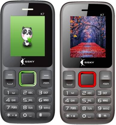 Ssky K7 Combo of Two Mobiles